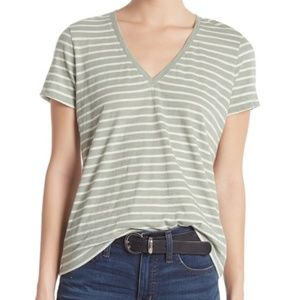 MADEWELL Theresa Striped V-Neck T-Shirt